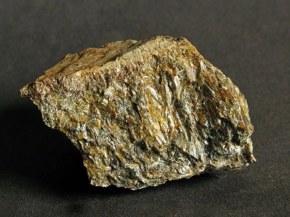 Anthophyllite is a much less common asbestos