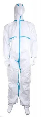 white hooded type 5/6 coverall