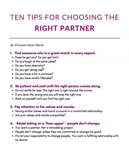 Cover-Tips for choosing the right partner