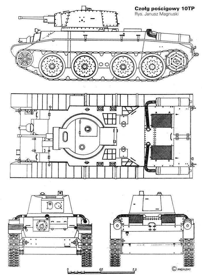 Колесно-гусеничный танк 10TP и «штурмовой» 14TP (Польша