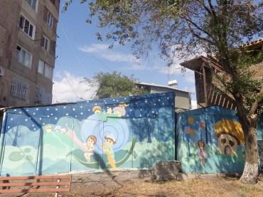 Peinture artistique dans les quartiers de Erevan Yerevan