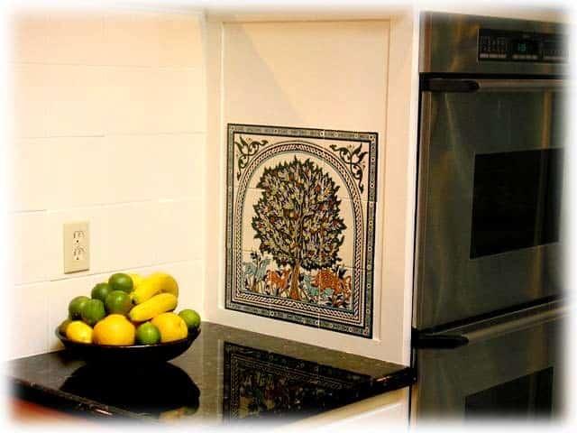 Tile Mural Of The Tree Of Life Of Jerusalem Balian Studio