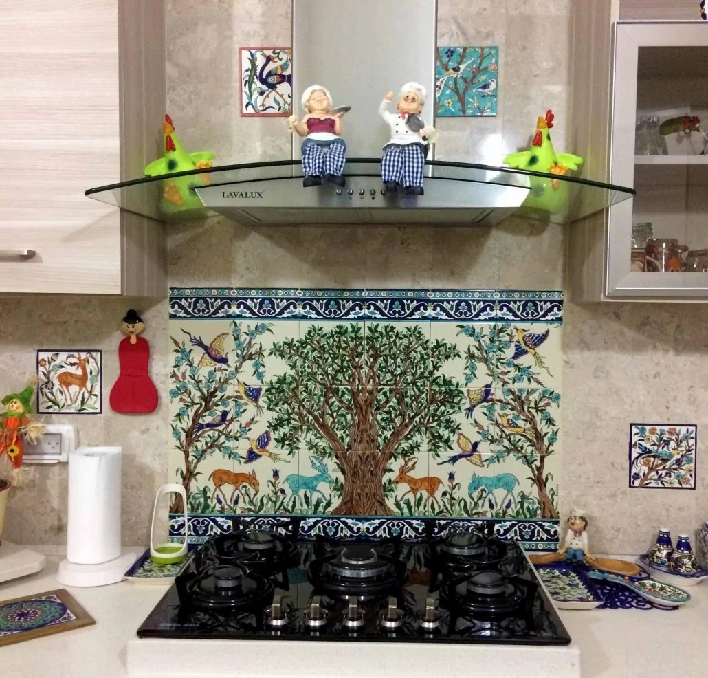 kitchen backsplash murals mechanical timer hand painted tile design ideas
