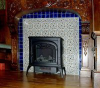 Custom Fireplace Tiles by the Balian Hand Painted Tile Studio