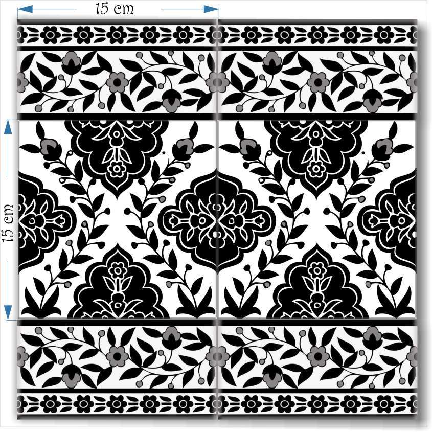 Black Amp White Decorative Tiles From The Balian Studio Of