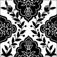 Black & White decorative tiles from the Balian Studio of ...