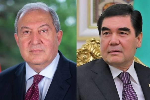 Armenian President congratulates Turkmen counterpart on Independence Day