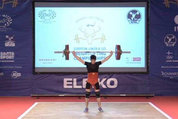 Garnik Cholakyan, 19, becomes weightlifting champion of Europe