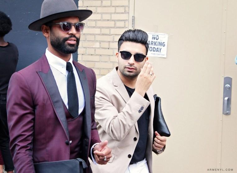 New York Fashion Week Men's SS15 fashion street style photography by Armenyl.com