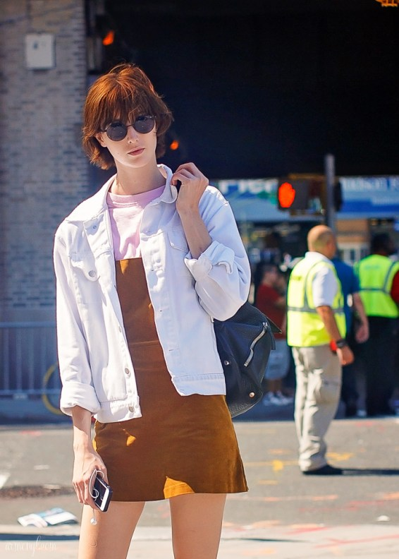 Suede style At Fashion Week