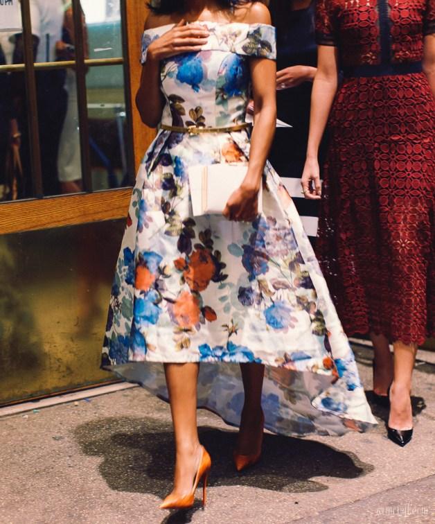 Fashion Week Roundup Zac Posen Floral cocktail dress Fashion Week 2015 photographed by Fashion Blogger Armenyl