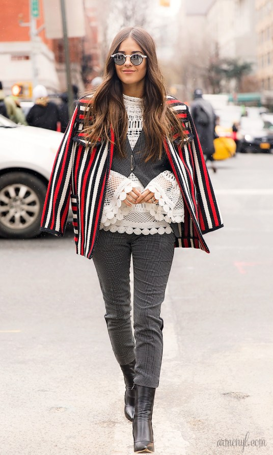 Street Style outside Tommy Hilfiger FW 2016 show in New York City at NYFW photographed by Armenyl.com