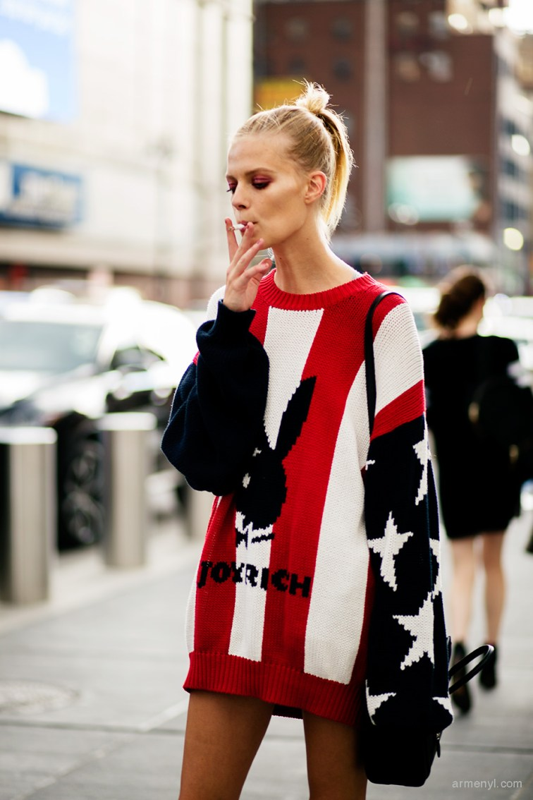Fashion Model Lexi Boling in Joyrich sweater at New York City Photographed by Armenyl.com