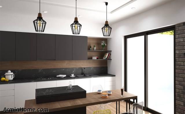 LampH25 Noir cuisine