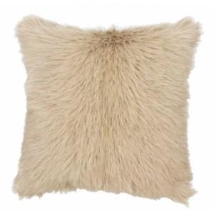 Coussin décoratifs fourrure - 40*40 cm - beige