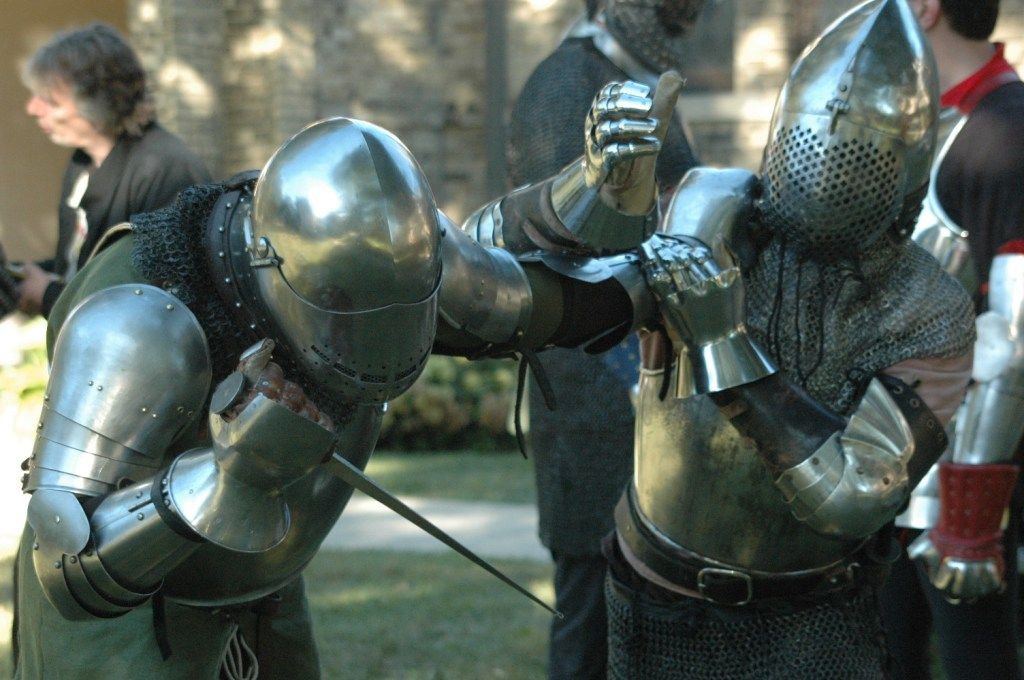 The techniques for using -- and defending against -- the dagger are equally suited to armoured and unarmoured combat.