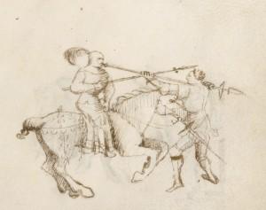 Ghiavarina vs. horseman. Getty Ms. f. 46.