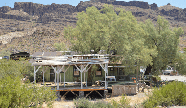 Abandoned structure in old mining town