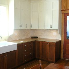 White Porcelain Kitchen Sink Copper Undermount Caramelized Pear   Les Armoires Saint-romain Inc.