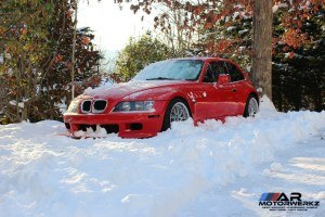 BMW Z3 Coupe in Snow