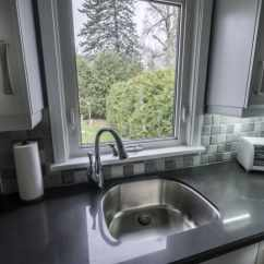Complete Kitchen Portable Islands For Kitchens Renovation Armoured Touch Inc Custom Cabinets With Slow Close Glides Crown Installed And Valance Pot Light Over The Sink New Handles