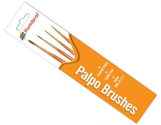 Humbrol Palpo Brushes Sizes 000,0,2 & 4