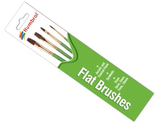 Humbrol Flat Brushes 3,5,7 & 10mm