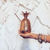 19. Pineapple Brass Moscow Mule Mug $64.99
