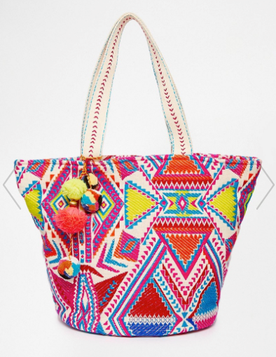 22. ASOS 'Geo Tribal Beach Bag' $41