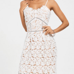 10. RoseGal - Crochet Cami Lace Cocktail Dress - White $19.70