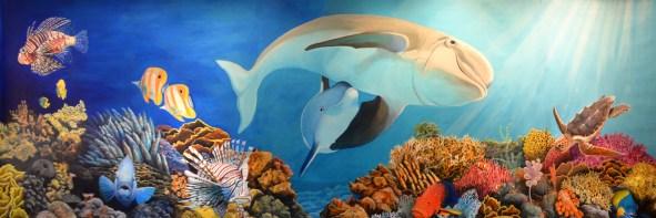 Aquarium mural hero
