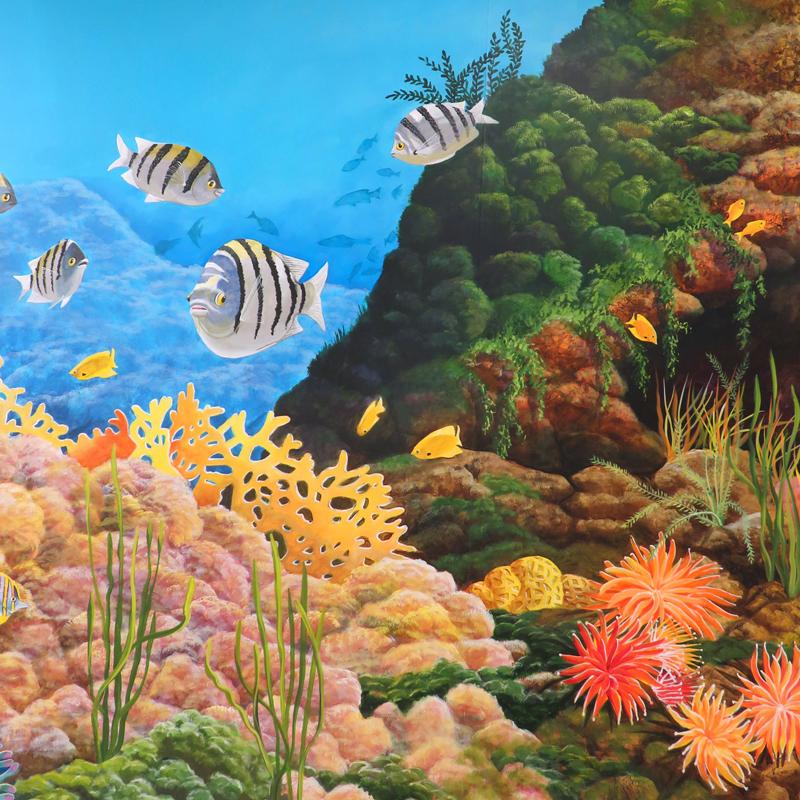 Motts Aquarium Mural