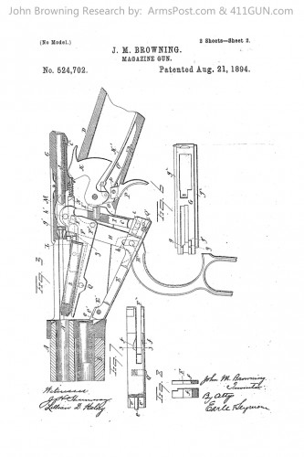 John Browning Patent 524702, The Winchester Model 1894 or