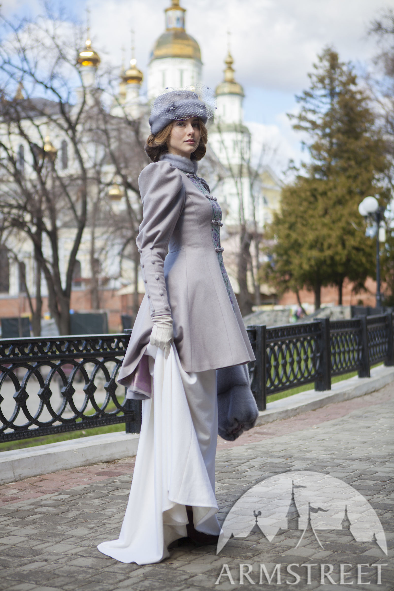 Belle poque Coat FleurdeLis  No embroidery