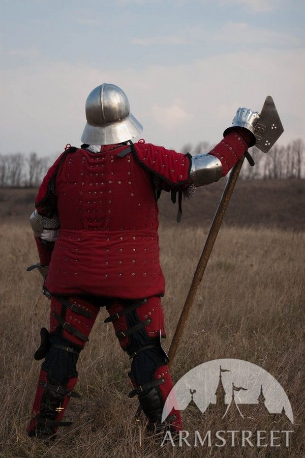 Medieval full brigandine armor suit knight armor body armor legs arms pauldrons for sale