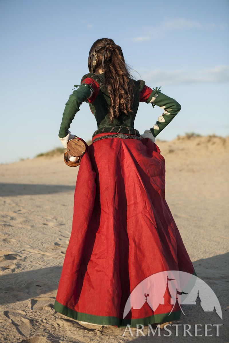 Fantasy medieval dress corset and chemise The Alchemists