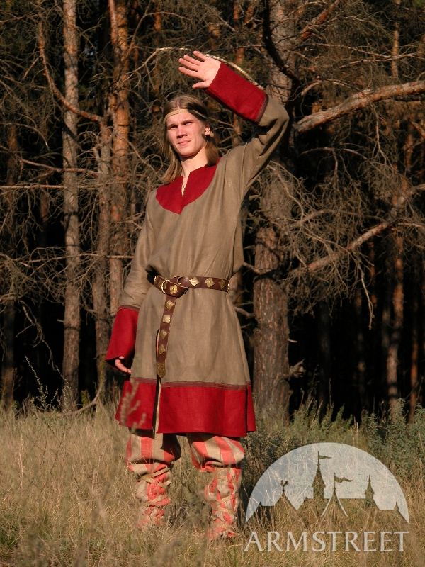 Exclusive Flax Norman Medieval Tunic Costume Great tunic for powerful Norman warrior  for sale