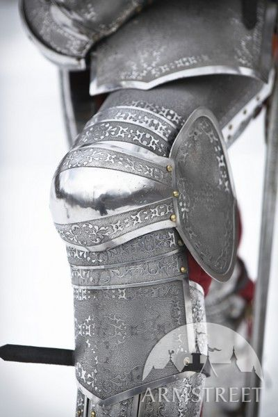 Paladin knight armor legs with greaves stainless steel for sale Available in stainless  by