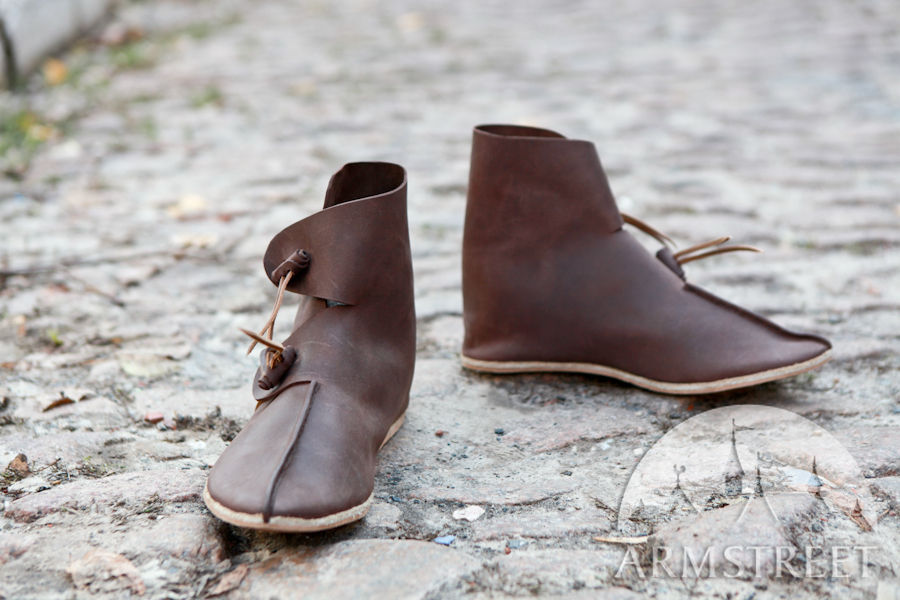 Handmade Darkage Medieval Leather Shoes Boots for sale