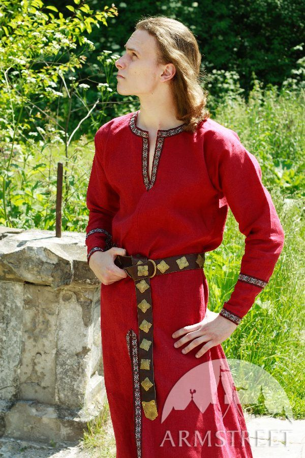 Great quality 100 natural medieval flax linen tunic garb costume LARP SCA for sale Available