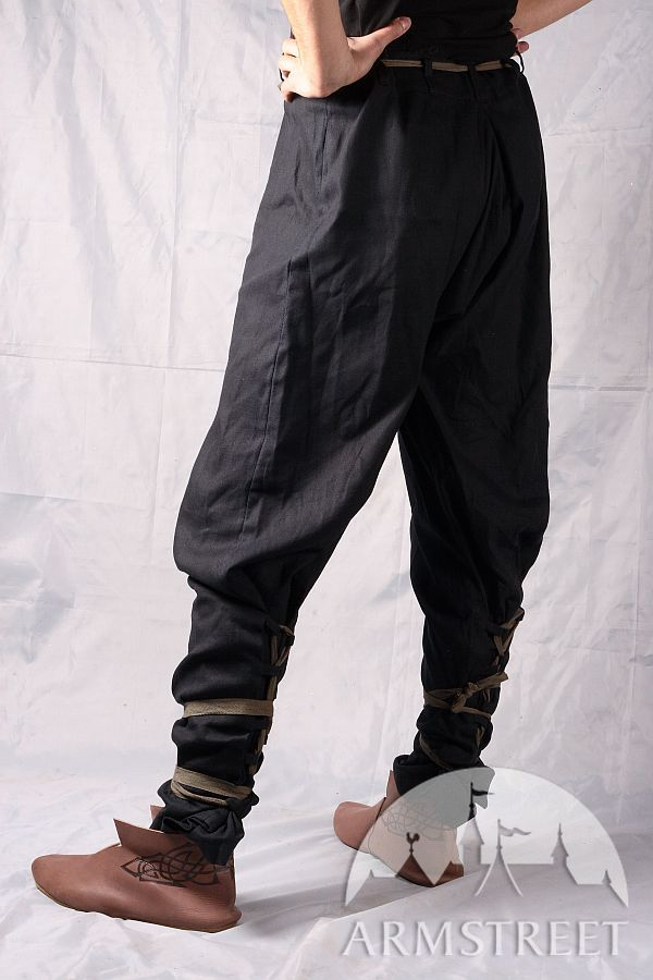 Medieval Cotton Pants With Lacing for sale Available in