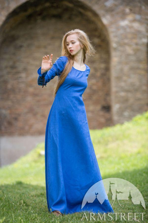 Original Medieval Stile Dress Hat And Skirt Set. Natural