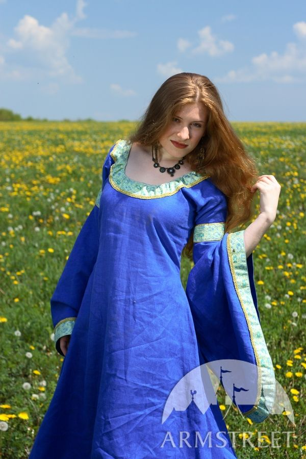This amazing medieval dress is made of highquality