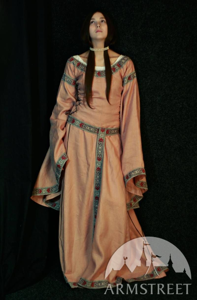 Amazing fantasy medieval flax linen dress Best seller for sale Available in white flax linen