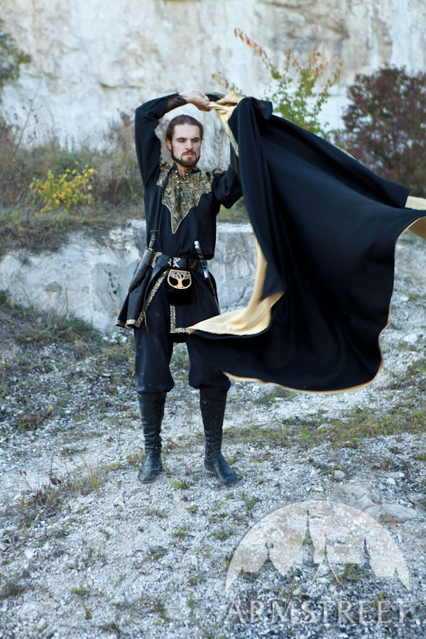 Medieval Fantasy Exclusive Wool and Trimming Prince Cloak