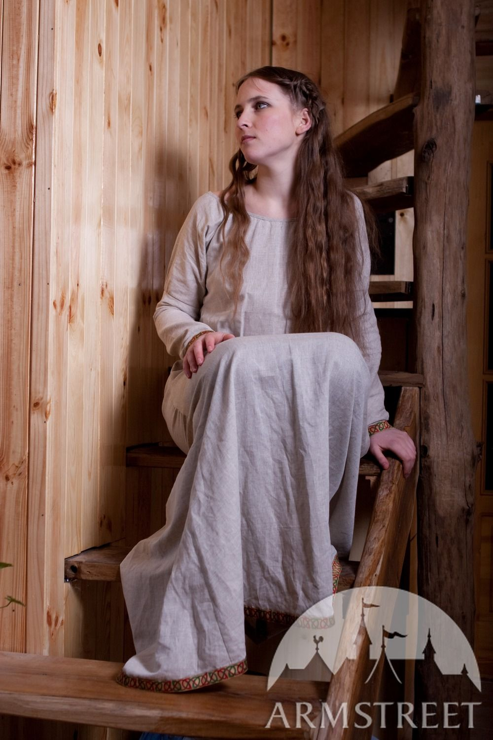 Medieval Flax Linen Darkages Underdress Chemise Tunic for