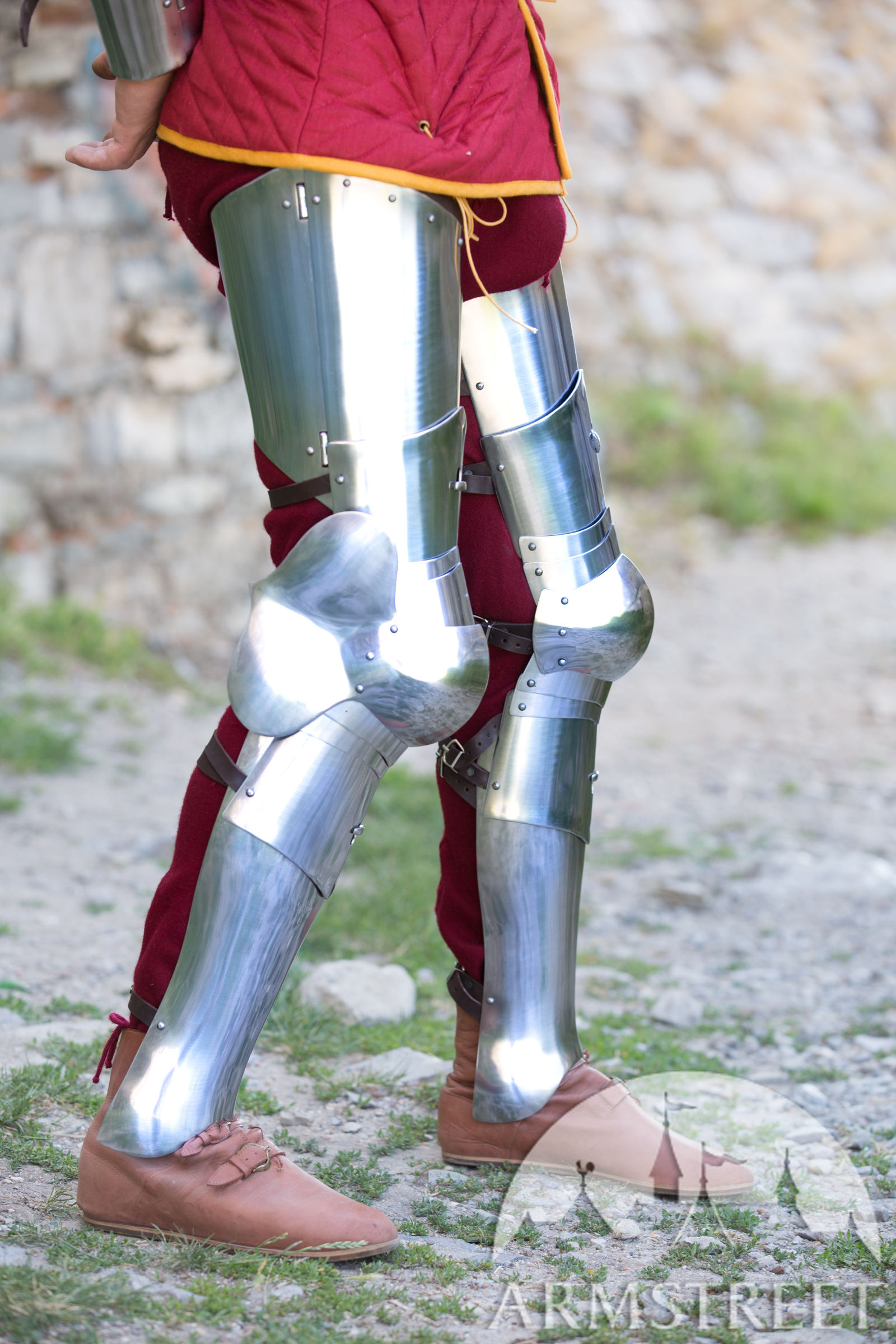 Armor Legs 3in1 Combat Kit Available in stainless  by medieval store ArmStreet