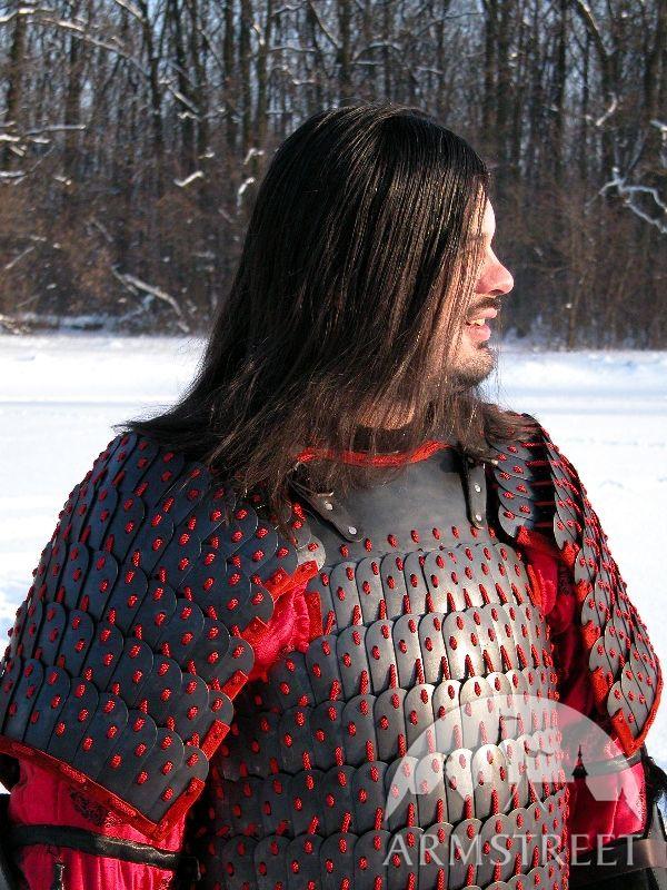 Blackened mongolian lamellar armor Combatready lamellar