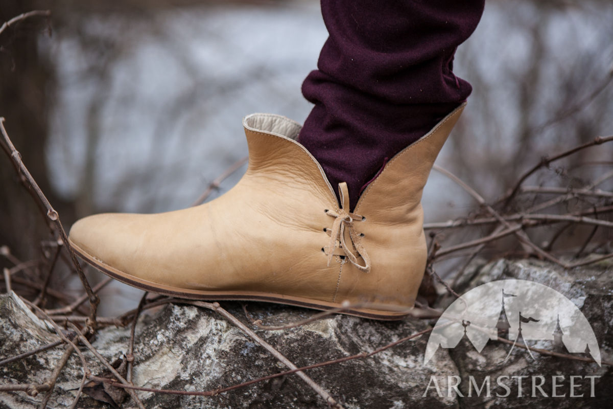Medieval Shoes Leather Classic Circa XIV Available in