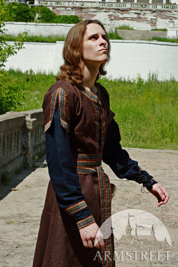 Medieval Long Tunic and Overcoat Set for sale Available